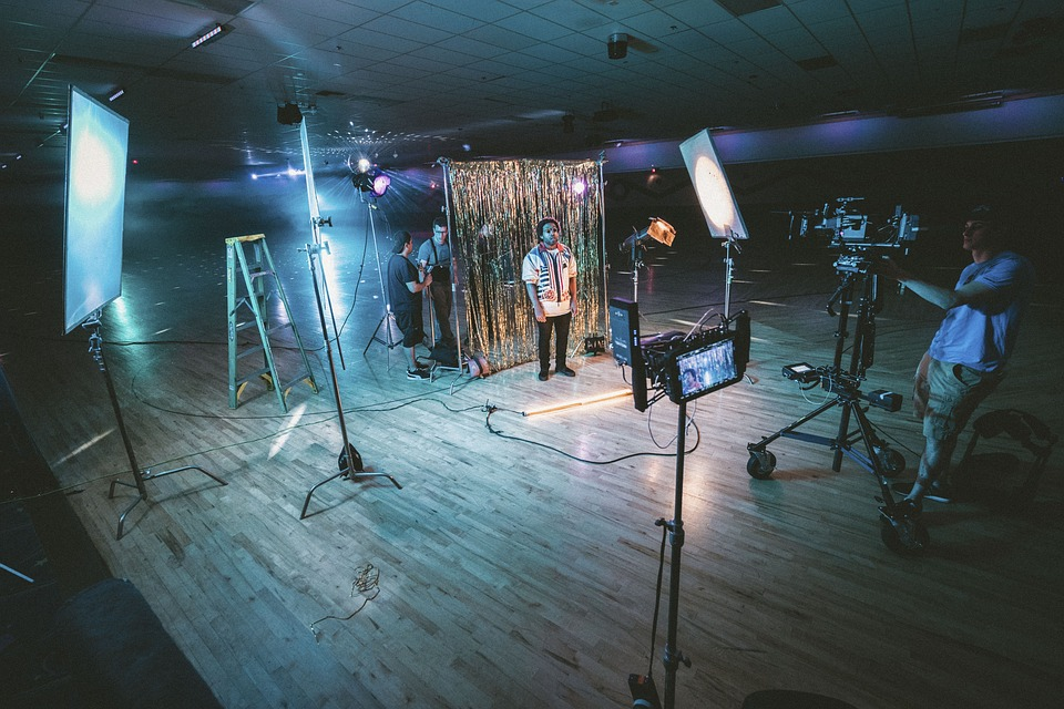 Video production in the studio